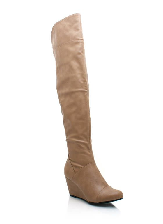 $29.95 leather wedge boots