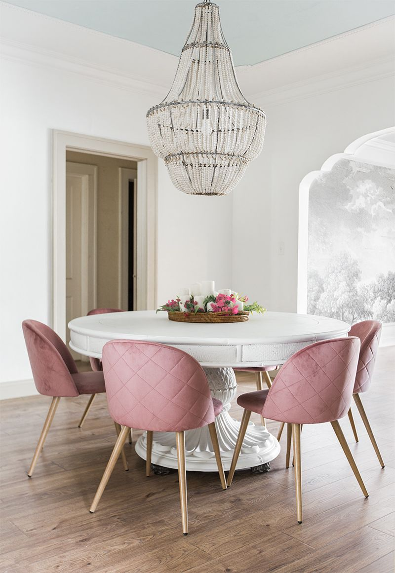 Dining Room Reveal Riverside Retreat is part of Pink dining rooms - Another week, another room reveal! This one comes just in time for the holiday festivities, where I'll be hosting Thanksgiving dinner this year (my first time since 2014!) and going nontradi…