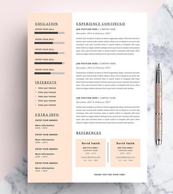 Creative Resume Template Cv Template Instant Download Etsy Creative Resume Templates Resume Template Creative Resume