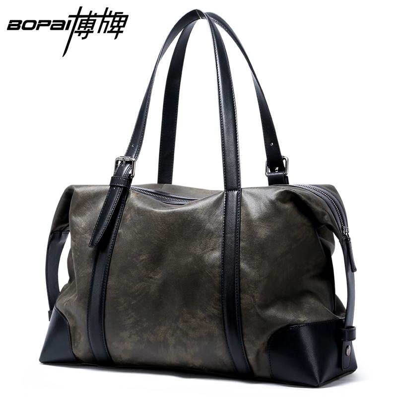 58.60$  Buy now - http://aliuaw.worldwells.pw/go.php?t=32738704236 - BOPAI Designer Handbags High Quality Casual Fashion Mens Satchel 15 Inch Computer Laptop Bags Nylon Weekender Work Bags for Men 58.60$