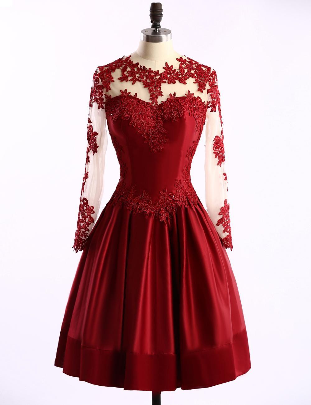 Cheap burgundy short prom dresses scoop neckline aline sexy