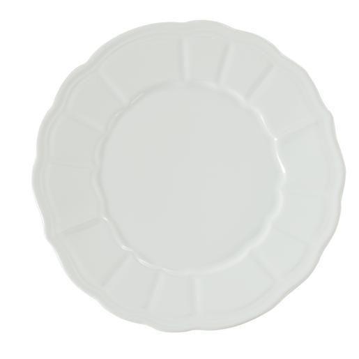 Assiette plate - Grès - Ø 27 cm - Ecru