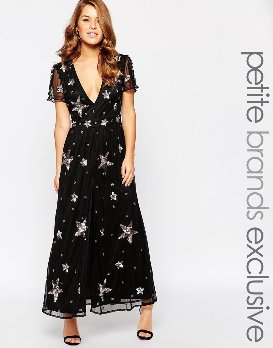 Maya petite star embellished maxi dress fashion long skirts and