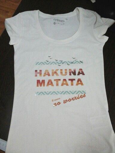 3b24a4f0a9 Hakuna matata :) | Pólók | T shirts for women, T shirt és Tops