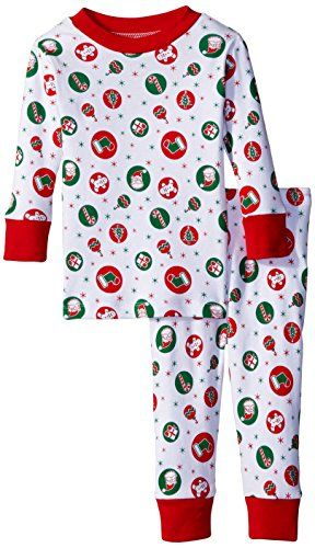 b72e23d91aac New Jammies Baby Girls Organic Pajamas Retro Christmas Red 12 Months ...