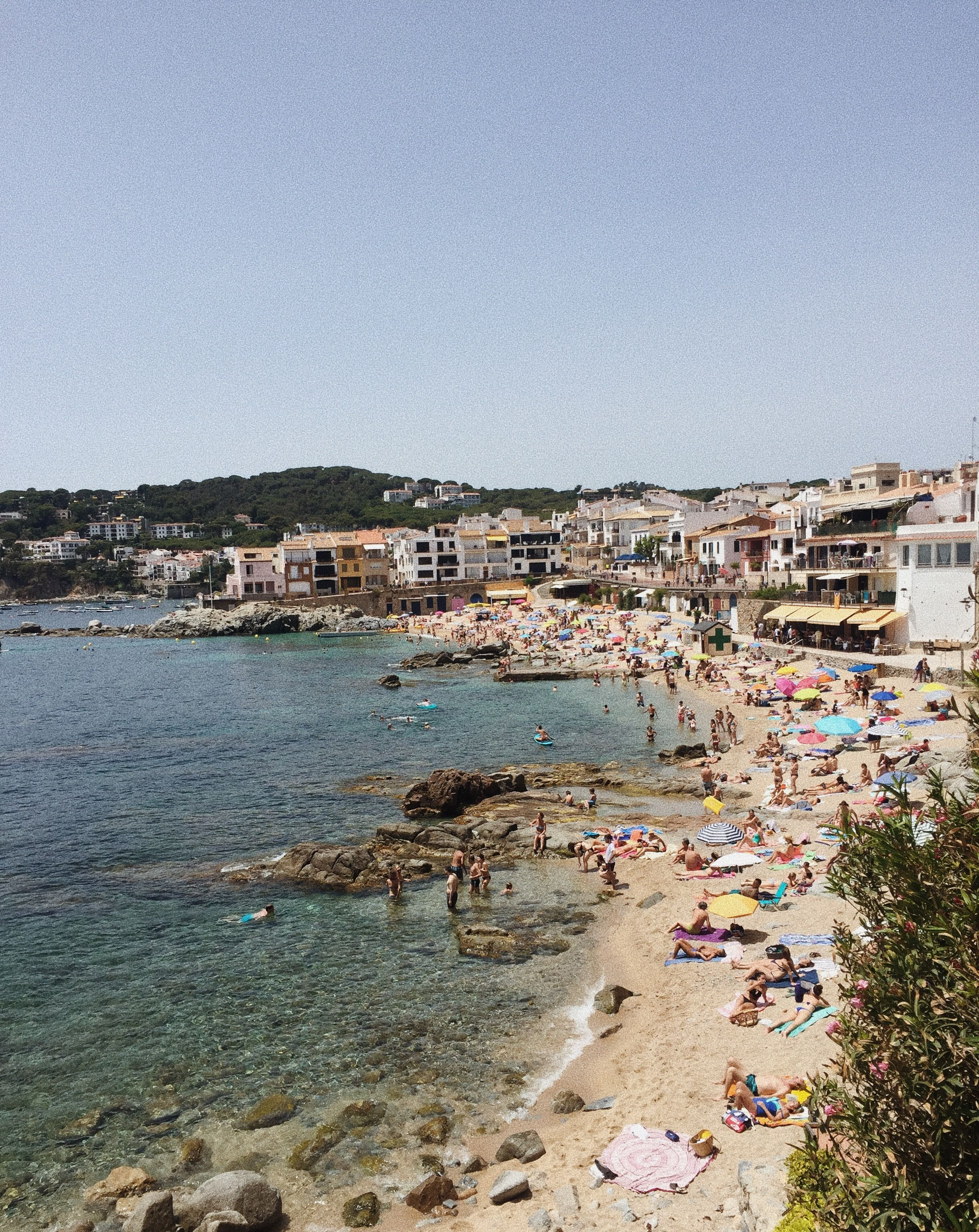 View from Calella de Palafrugell a small village in Costa