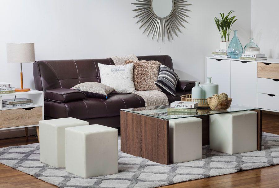 Con qué combina un sofá de cuero marrón | Furniture ...