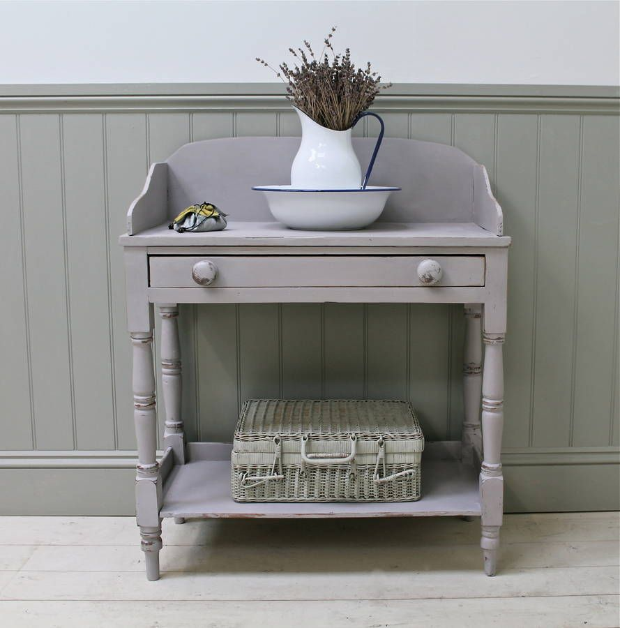 Painted pine farmhouse kitchen table by distressed but not forsaken - Distressed Painted Antique Pine Washstand