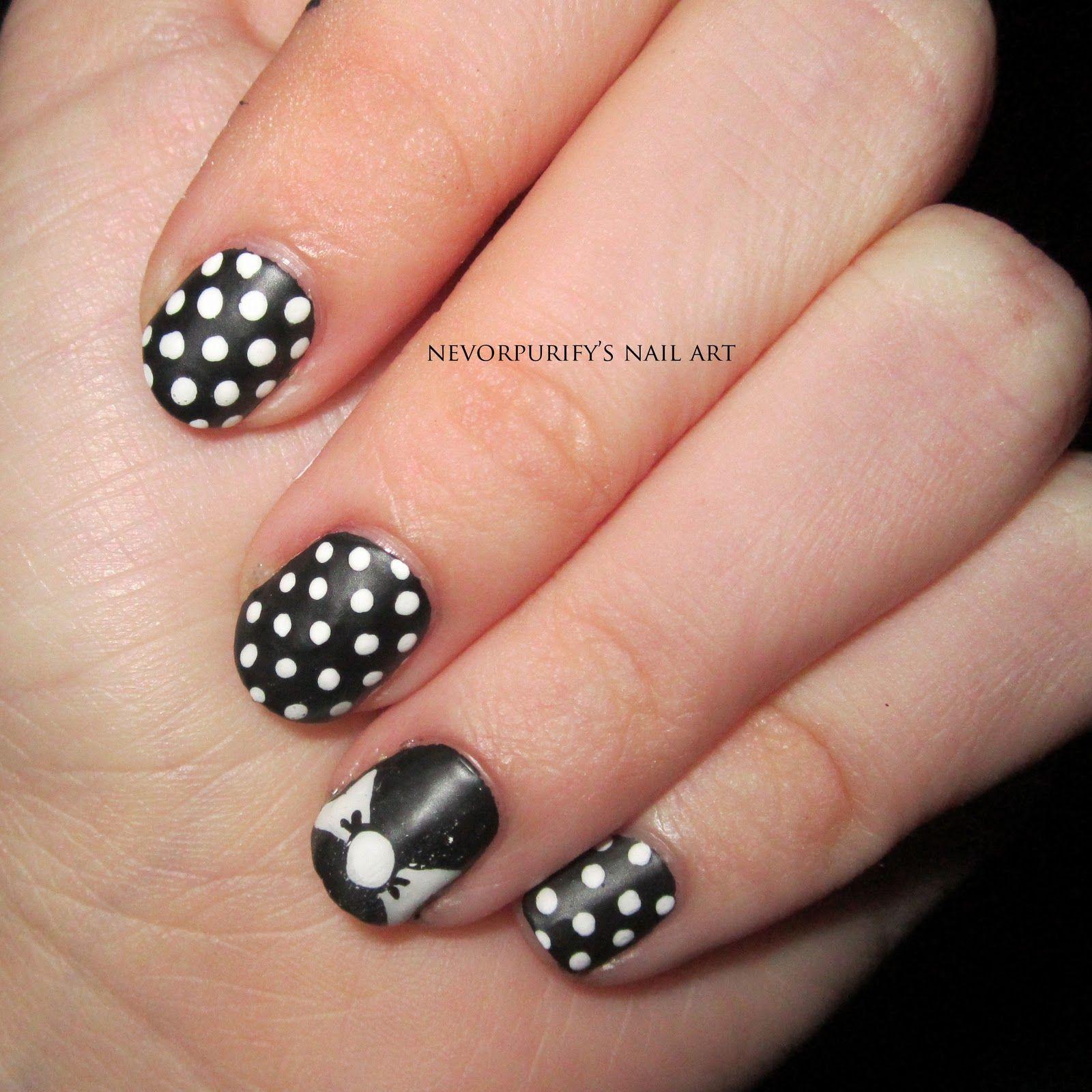 Bows and Polka Dots   Nevorpurify's Nail Art