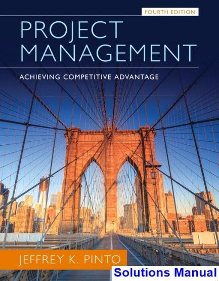 project management achieving competitive advantage 4th edition pinto rh pinterest com Roll Royce Manual USACE Engineering Manuals