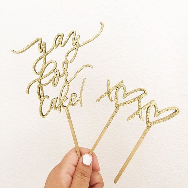 Yay for cake! (wish I had some right now)  • X❤️X❤️ (I wouldn't mind some of that either ) Some new cake toppers coming to our shop! . . . #letterstou #handdrawn #handlettering #calligraphy #lasercut #caketoppers #yayforcake #xoxo #biprtastemaker #biprnetwork #weddingdecor #cake #partycake