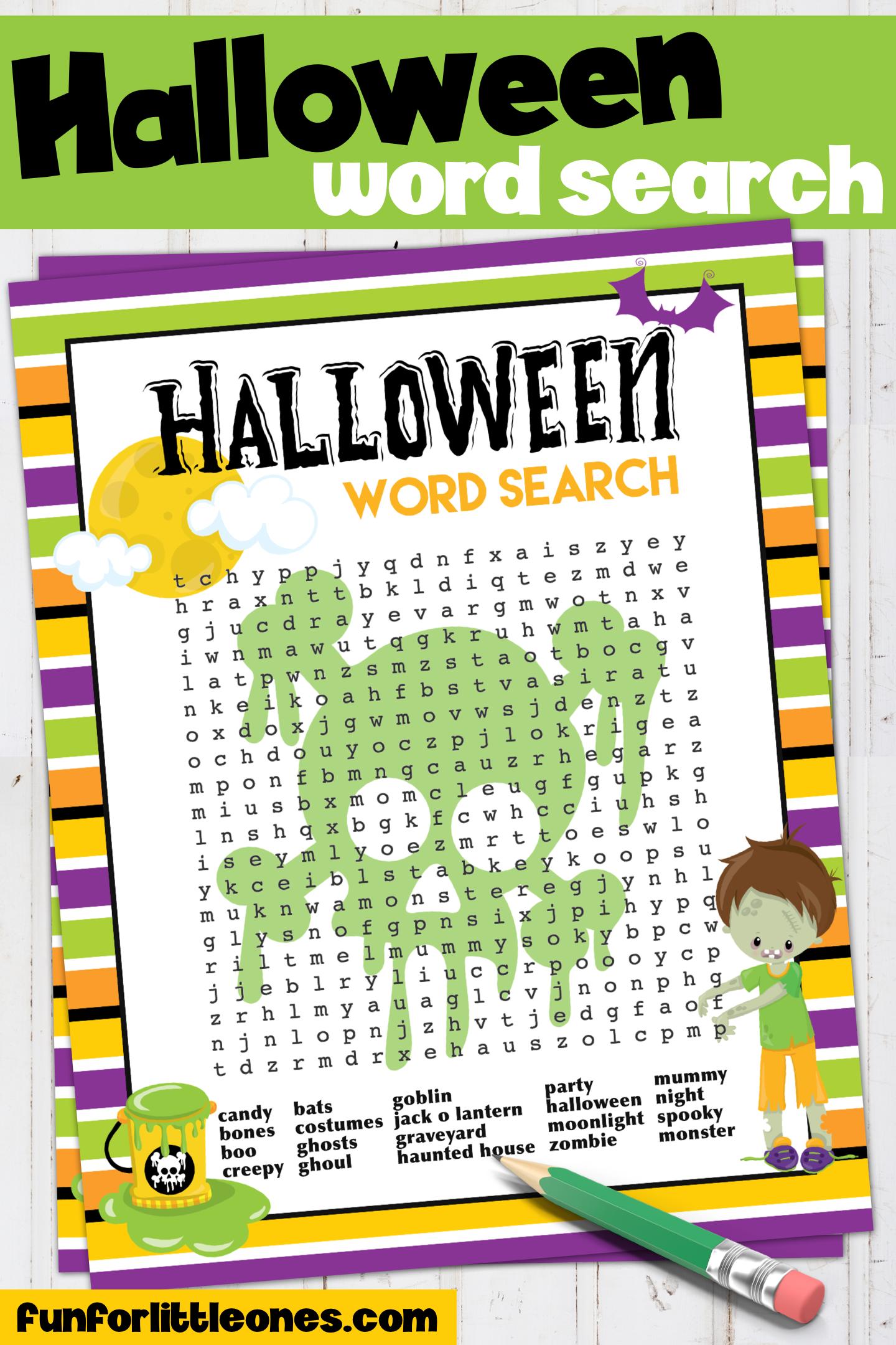 Halloween Word Search Printable