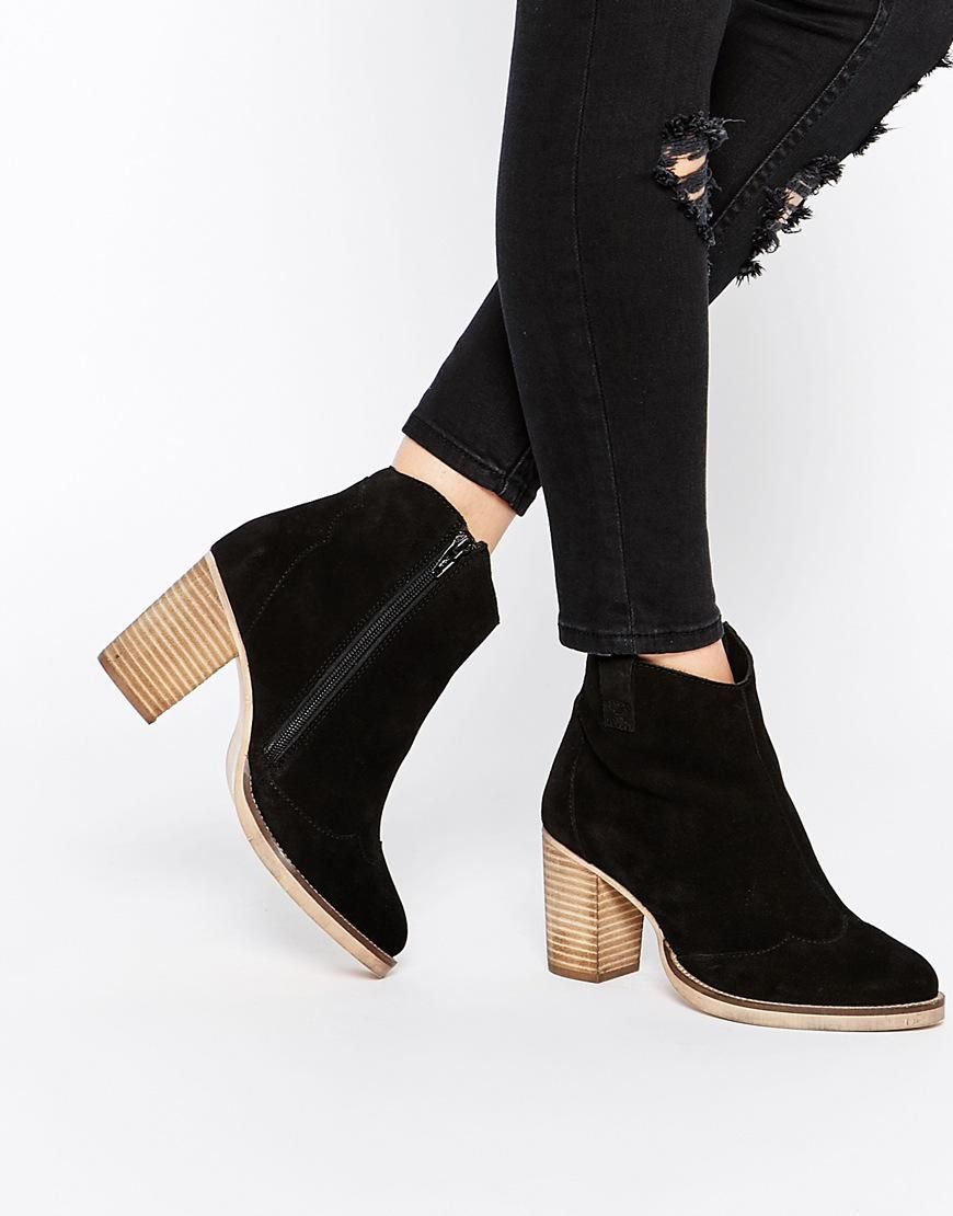 dd957605198 ASOS EACH AND EVERYONE Wide Fit Leather Ankle Boots from ASOS. Saved to  Quick Saves.