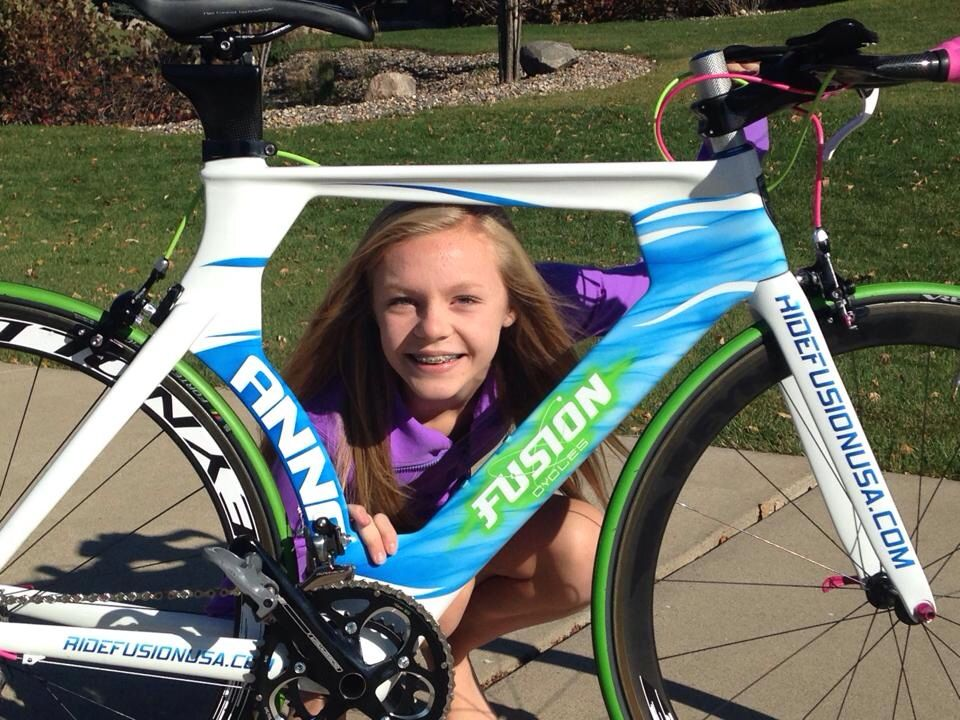 Ambassador Anna and her #FusionCycles #Triathlon #Bike