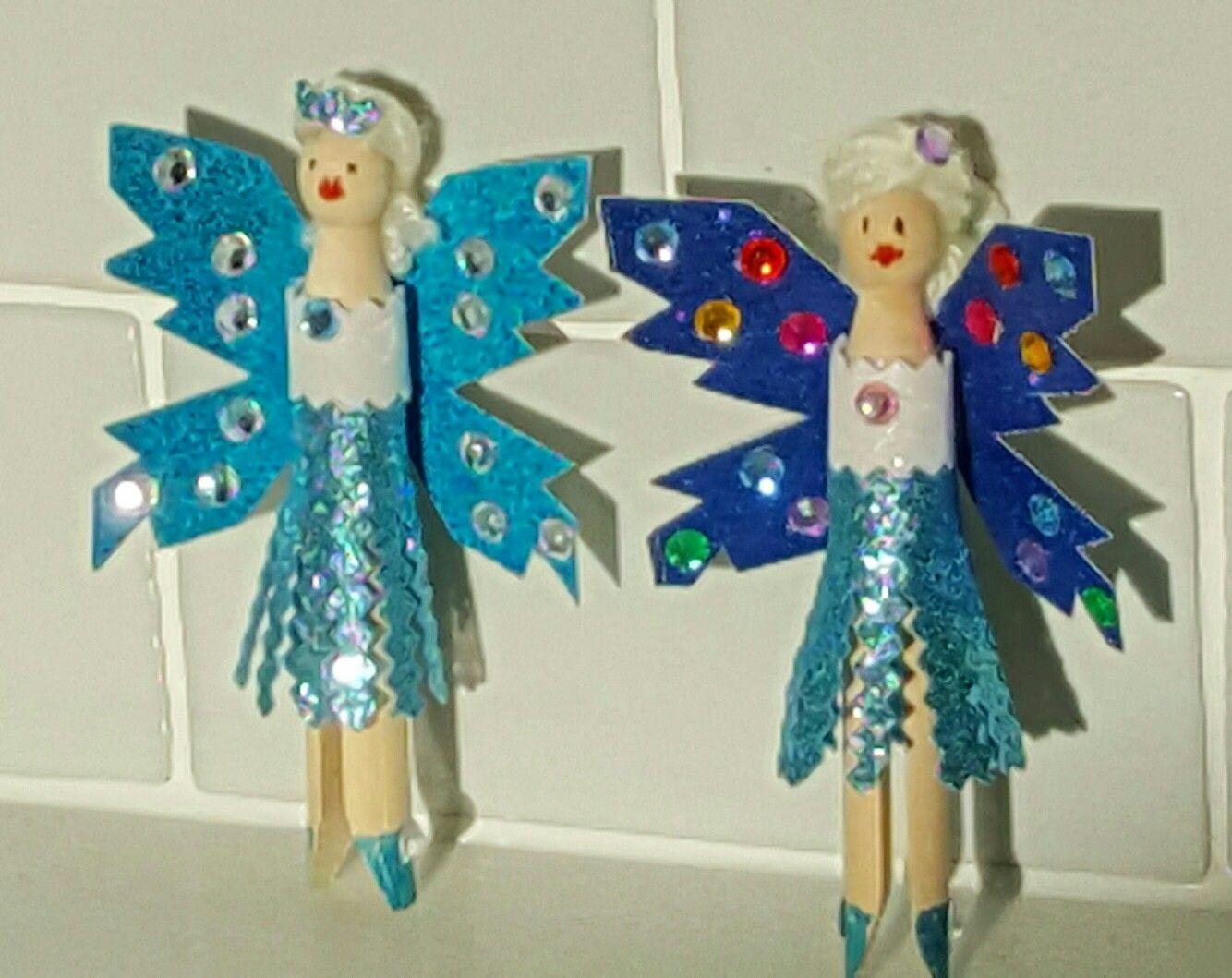 Peg doll Christmas Fairies