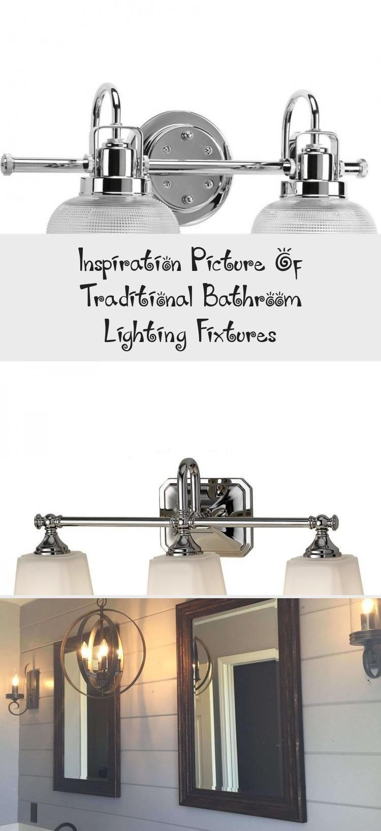 Photo of Inspirational image of traditional bathroom lighting fixtures – bathroom inspir …