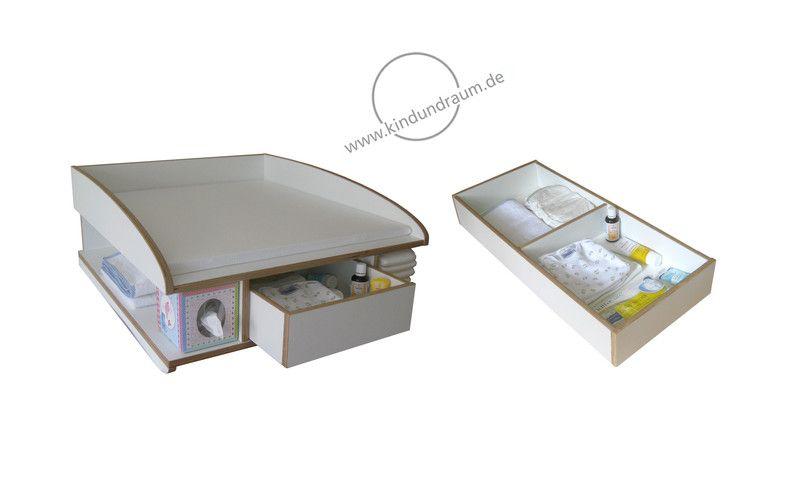 Wickelaufsatz Waschmaschine Schublade und Stauraum