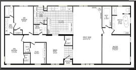 Solitaire Legend 4 2184 sq ft | Double Wide Floorplans | Pinterest