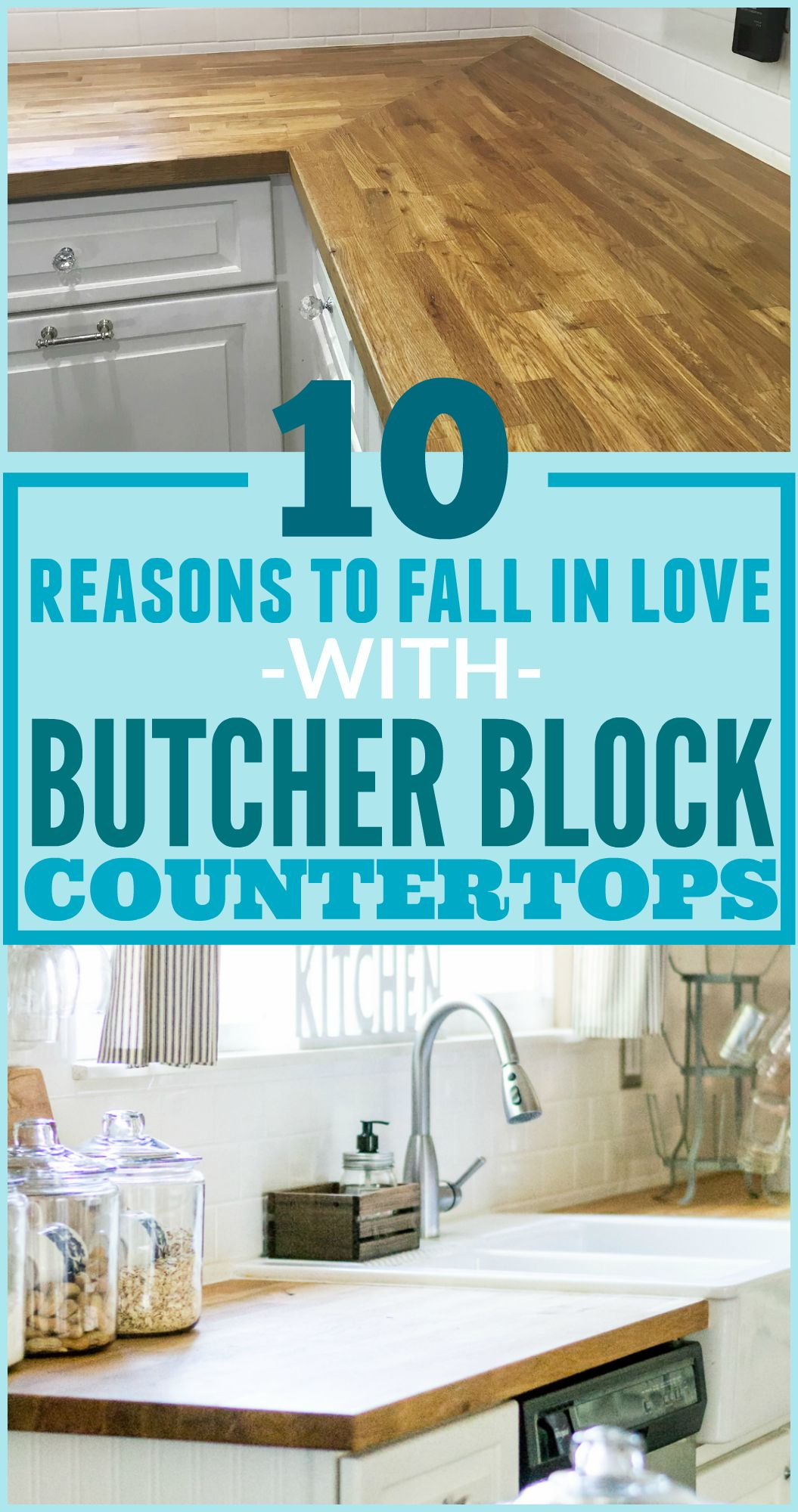 10 Reasons To Fall In Love With Wood Countertops For Your Kitchen The Weathered Fox Replacing Kitchen Countertops Kitchen Remodel Countertops Kitchen Countertops