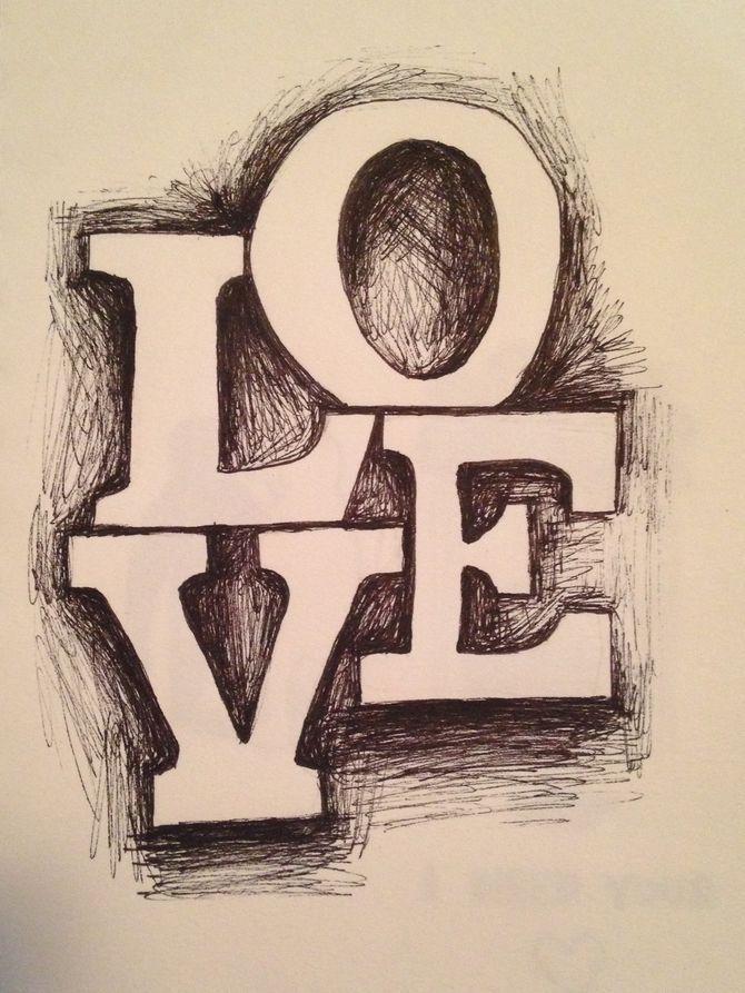 Draw 3d Block Letters Tema Desenhos Desenhos De Amor