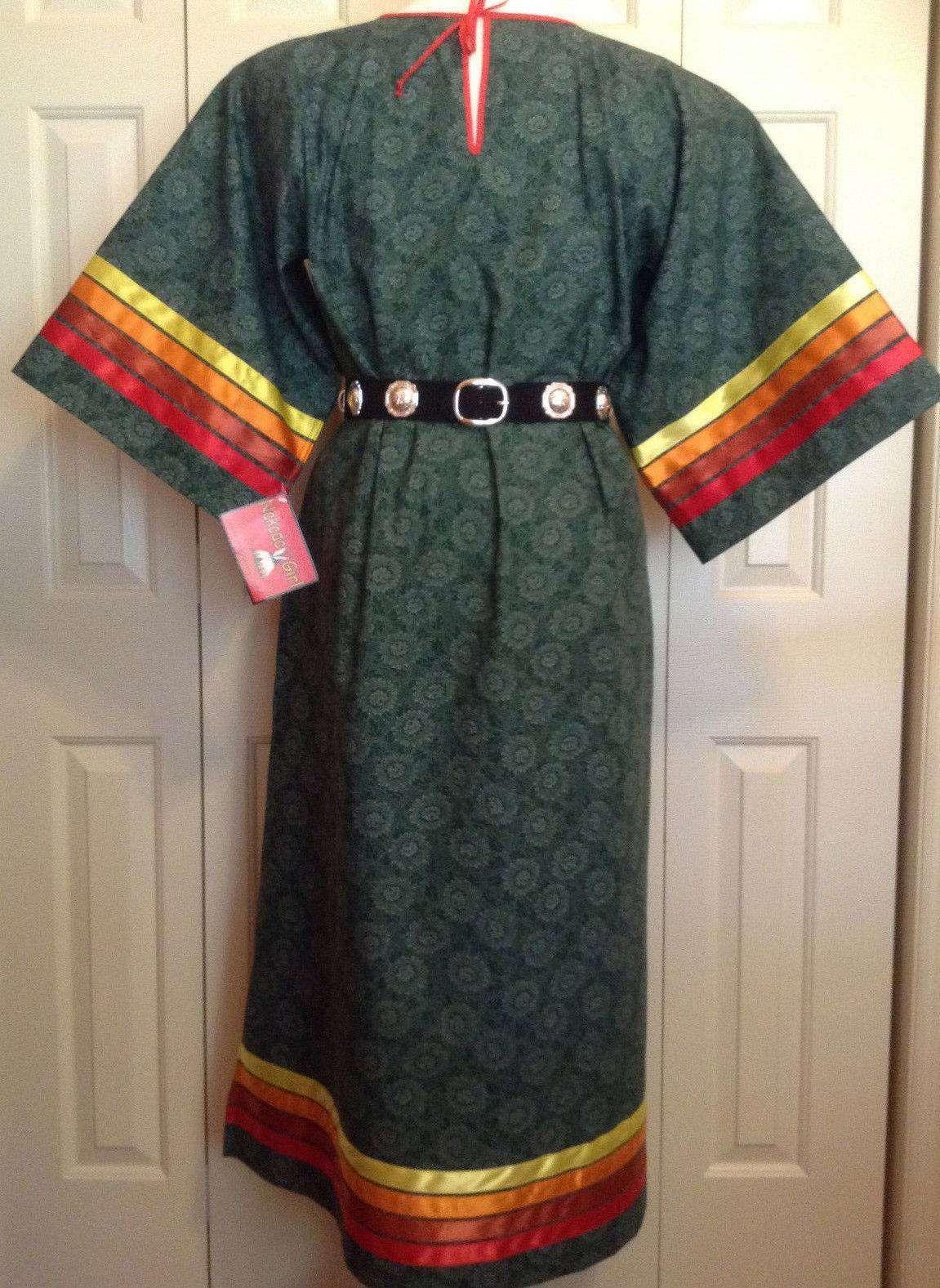f201efeec4 Native American Regalia*NAKODA MADE*Ladies Pow Wow GREEN Ribbon Dress Size  18-20 – eBay find of the week
