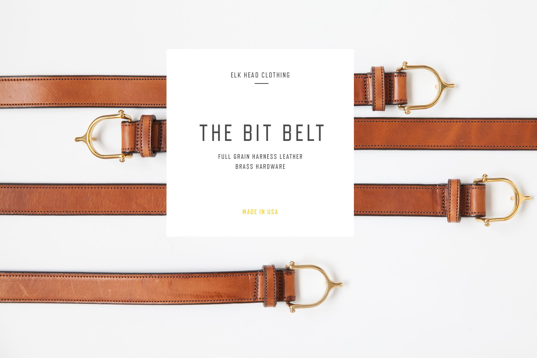Elk Head Clothing Harness Leather Bit Belt