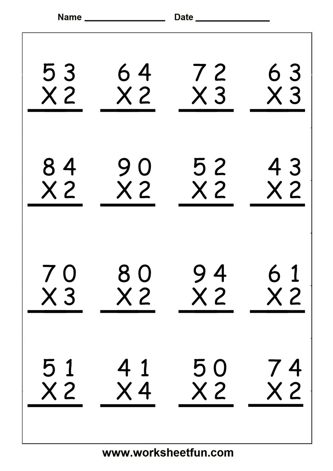 multiplication worksheets grade 5 - Google Search   Math fact worksheets [ 1600 x 1130 Pixel ]