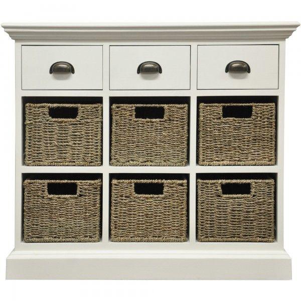 Wiltshire 3 Drawer + 6 Wicker Basket Sideboard - Furniture | JTF ...