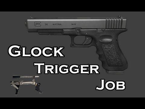GLOCK MODS! Glock Trigger Job - Glock 34 [HD] | Gunsmithing