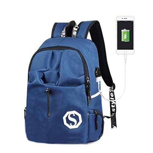 2d0deefdf83c7 Verus Backpacker Rucksack Luminous Rucksack mit USB Charging Port Laptop  Rucksack Luminous Schultasche Unisex Schulrucksack Daypacks