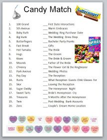 834cf46a5aef0 Bridal Shower Games! Answers: 13,2,19,10,7,4,17,16,14,18,1,9,6,15,11 ...