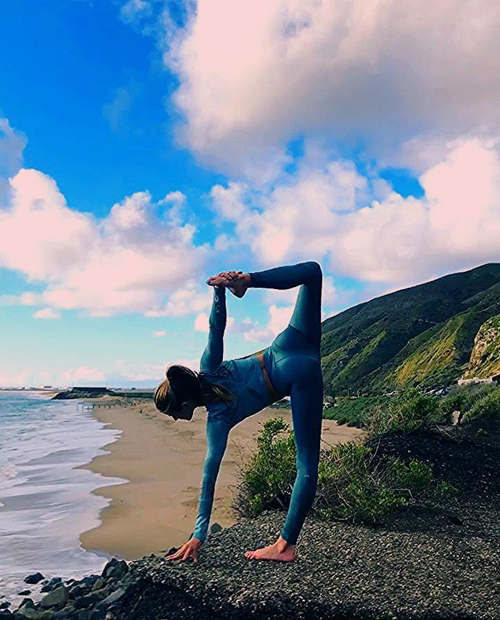 Photo of Beach yoga flow Malibu @yoga_ky