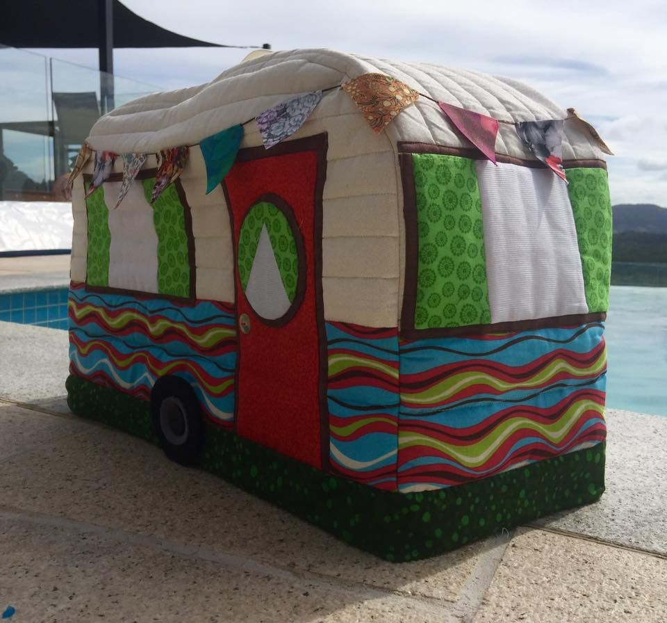 Caravan Sewing Machine Cover | Sewing machine cover ...