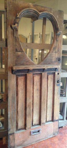 Omg This Is Gorgeous A Beautiful Heart On A Wood Door Unique Doors Wooden Doors Cool Doors
