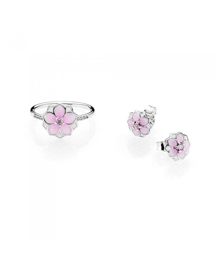 Pandora magnolia bloom gl spring17 retail9 gift sets pinterest delicately crafted and filled with the floral elegance of the magnolia flower these pretty sterling silver stud earrings accented with pink and white mightylinksfo
