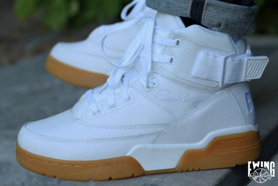 Patrick Ewing white gum (2013) (With images) | Kids shoes