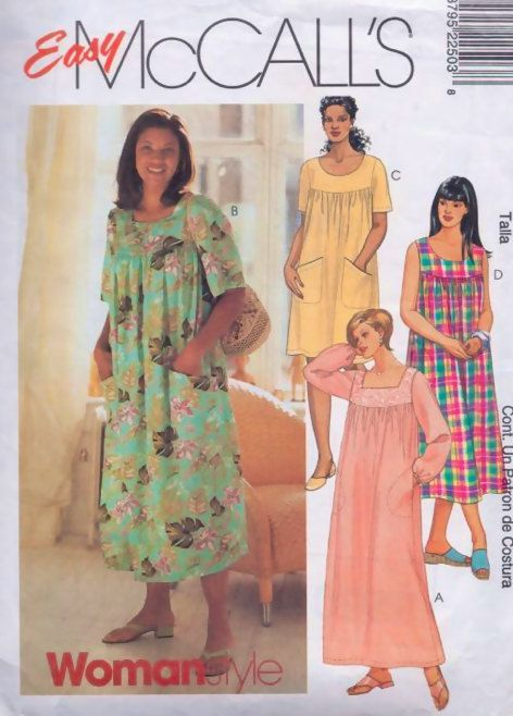 Plus Size Muumuu Dress Sewing Pattern Hawaiian House Dress Or