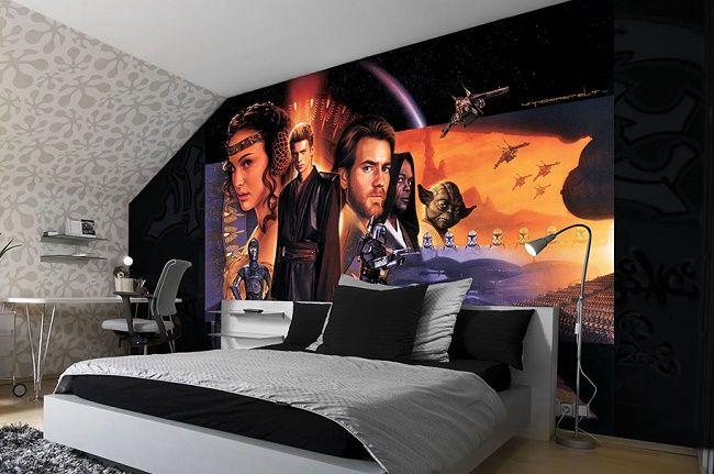 Room Giant Size Wallpaper Mural For Kids Star Wars
