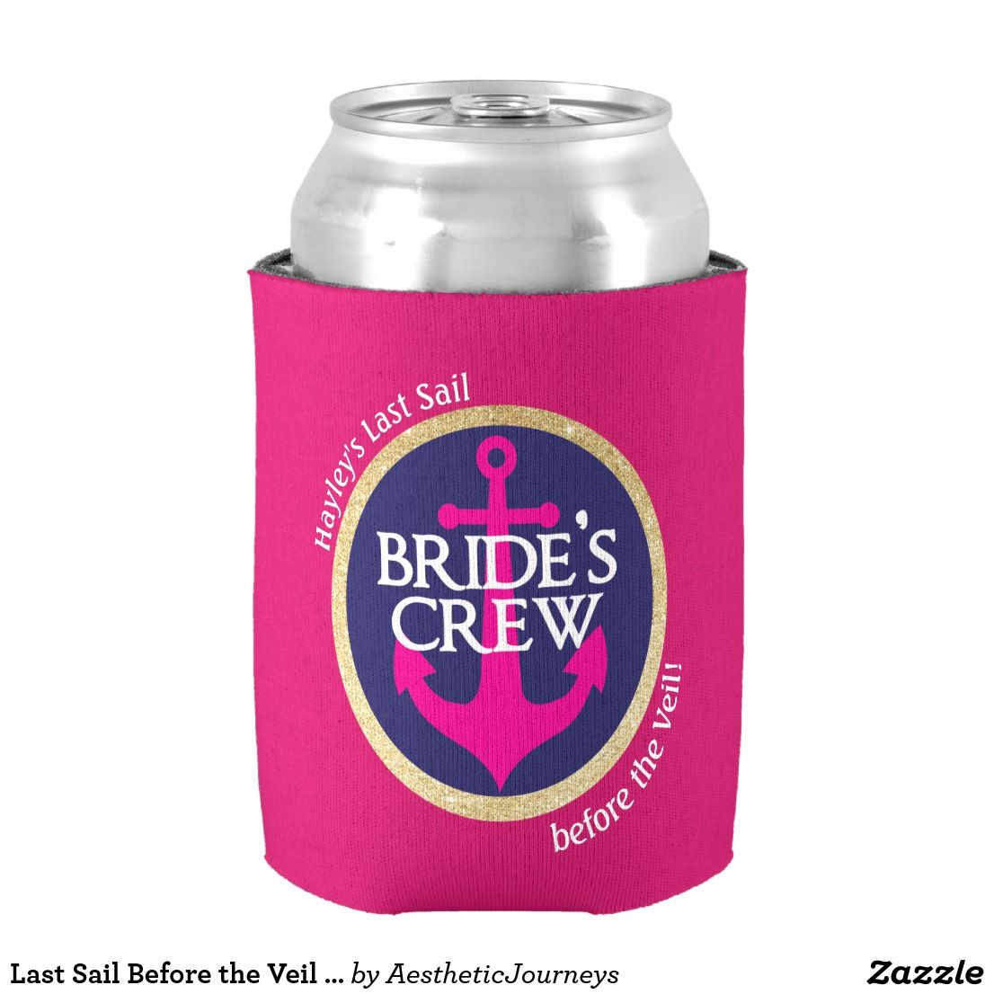 Last Sail Before the Veil Drink Holder Can Cooler | Wedding ...