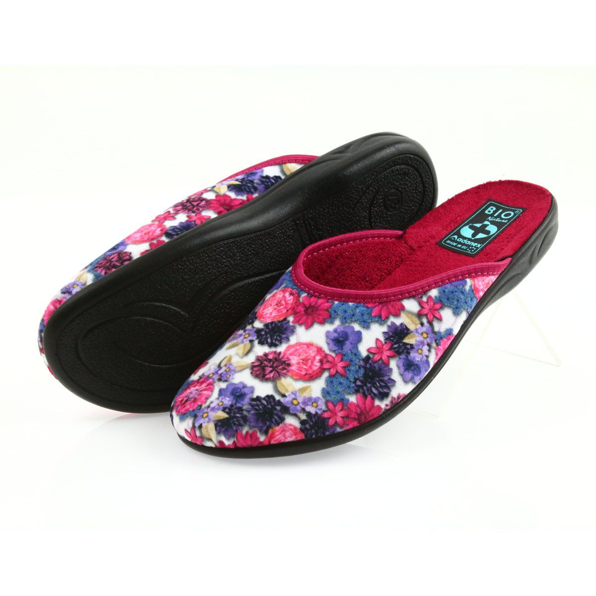 Slippers Velor Adanex 23773 Multicolored Slippers Womens Slippers Shoes