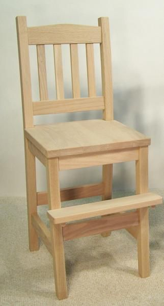 Amish Mission Youth Chair With Foot Step Mission Style