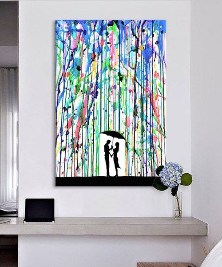 diy canvas painting 35 easy amp creative diy wall ideas for decoration 13193