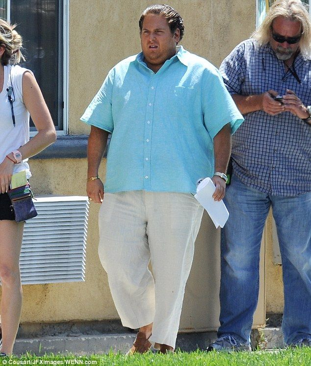 Jonah Hill reveals much larger frame again while filming ... Jonah Hill Weight Gain Again