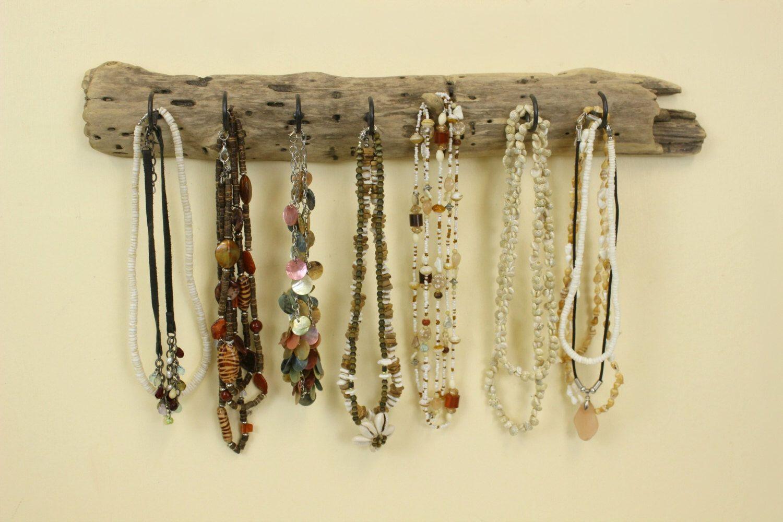 Driftwood Jewelry Holder, Jewelry Organizer, Driftwood Key Holder ...