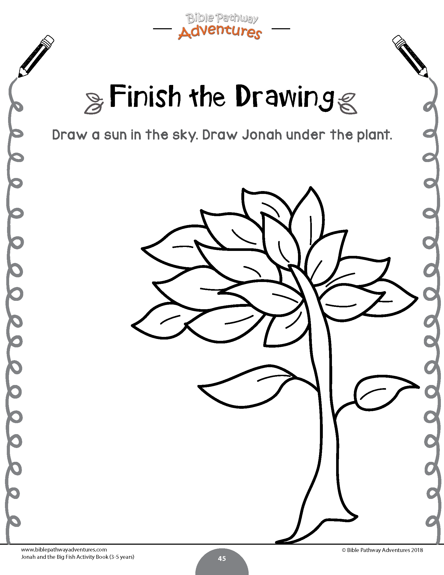 Jonah And The Plant Coloring Page For Kids