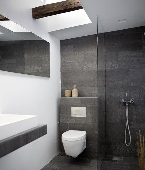 Modern Grey And Black Bathroom Ideas Trenhomede