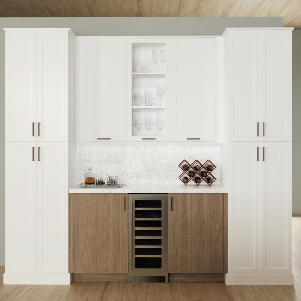 Hampton Bay Designer Series Melvern Assembled 30x30x12 In Wall Open Shelf Kitchen Cabinet In White Wos3030 Mlwh The Home Depot In 2020 Open Shelving Kitchen Cabinets Kitchen Cabinets Open Kitchen Shelves