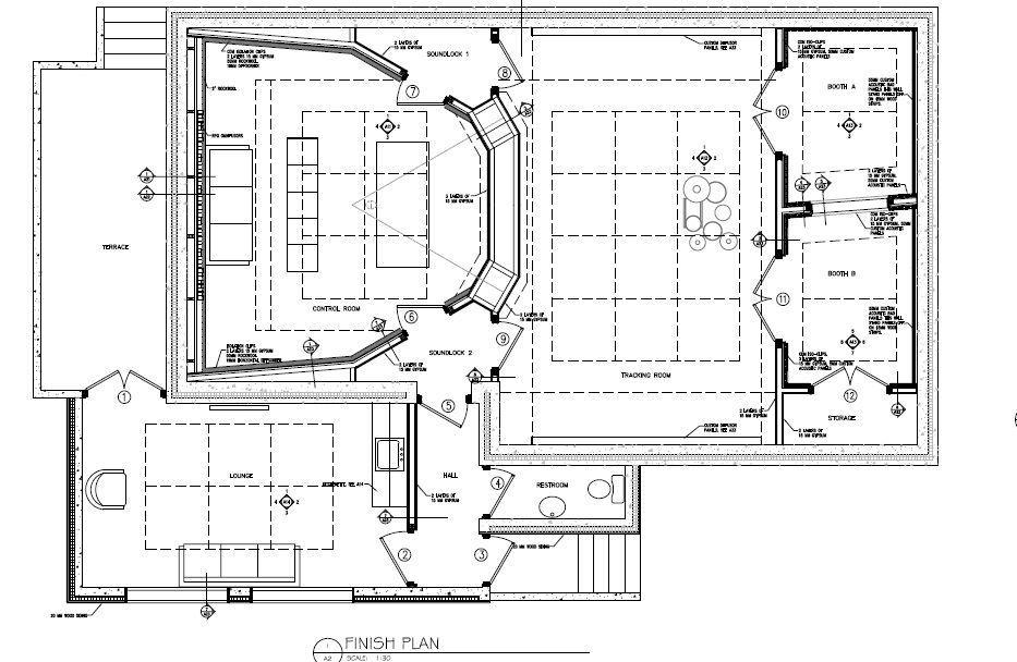 Floor Plan Copy Jpg 933 X 608 38 Recording Studio Design