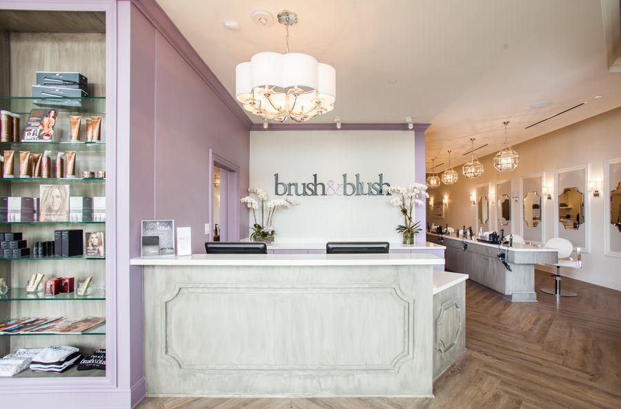 Girl boss htown brush blush blow dry bar is a luxury beauty bar styling salon offering - Bar salon design ...
