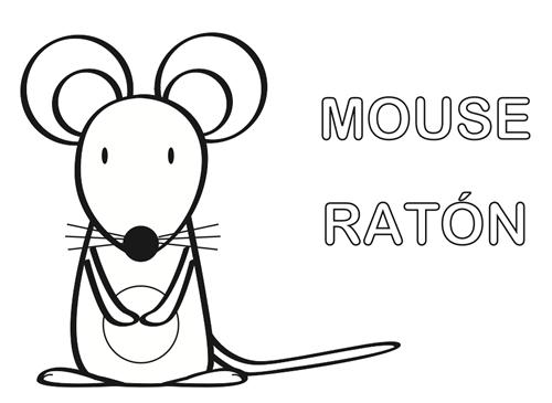 Raton Para Colorear Animalitos Para Colorear Ratones Y Libros